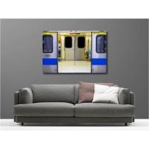 Tableaux toile déco rectangle métro