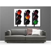 Tableaux toile déco rectangle feu tricolore