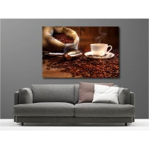 Tableaux toile déco rectangle grain de café