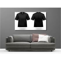 Tableaux toile déco rectangle t-shirt noir