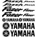 12 Stickers Autocollants Yamaha Fazer