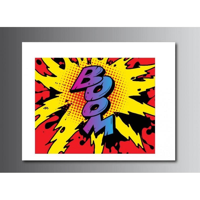 tableaux toile d co rectangle bd boom art d co stickers. Black Bedroom Furniture Sets. Home Design Ideas