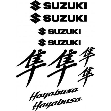 10 Stickers Autocollants Suzuki Hayabusa