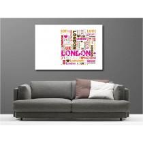 Tableaux toile déco rectangle London