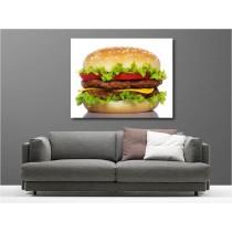 Tableaux toile déco rectangle hamburger