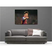 Tableaux toile déco rectangle Lionel Messi