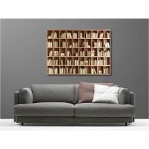 Tableaux toile déco rectangle bibliothèque