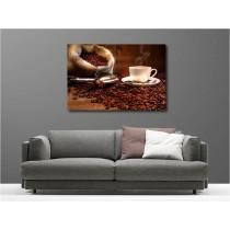 Tableaux toile déco rectangle tasse à café