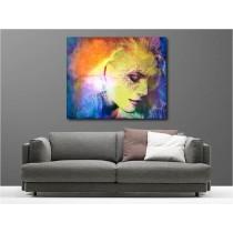 Tableaux toile déco rectangle portrait blonde