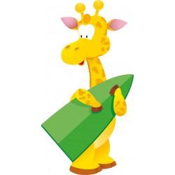 Sticker mural enfant bébé Girafe