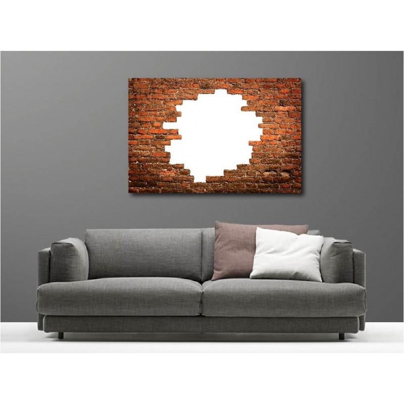 tableaux toile d co rectangle mur de pierre art d co stickers. Black Bedroom Furniture Sets. Home Design Ideas
