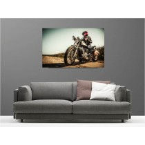 Tableaux toile déco rectangle harley davidson