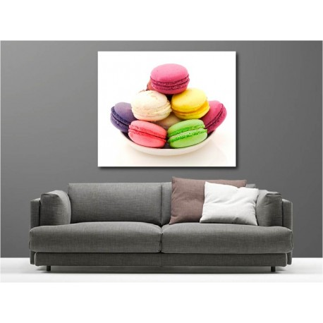 tableaux toile d co rectangle macaron art d co stickers. Black Bedroom Furniture Sets. Home Design Ideas