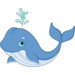 Stickers muraux enfant Baleine