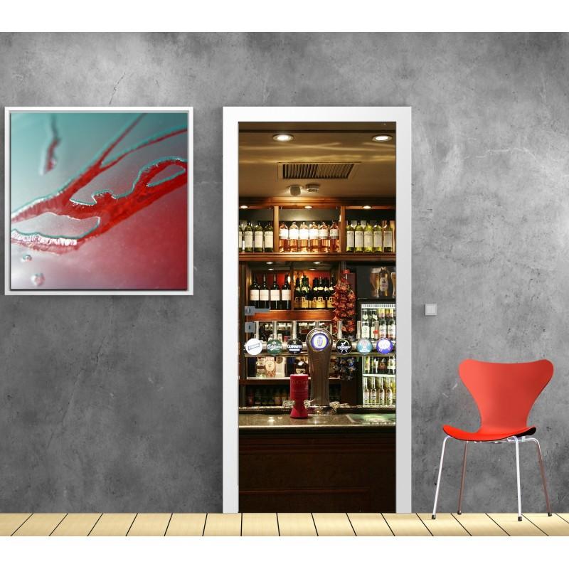 Stickers porte bar art d co stickers - Deco pour restaurant ...