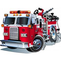 Stickers muraux enfant Camion de pompier