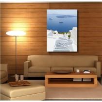 Tableaux toile déco rectangle verticale chemin de pierre vue sur mer