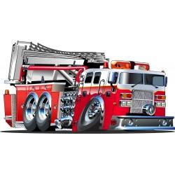 Stickers enfant Camion de Pompier