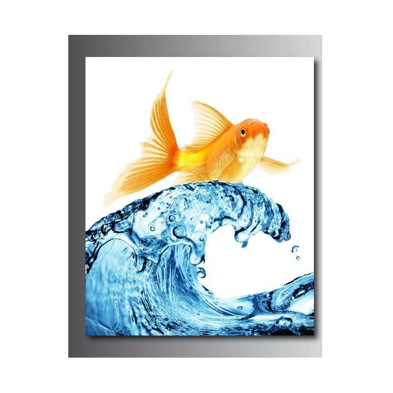 Super Tableaux toile déco rectangle poisson rouge - Art Déco Stickers RE92