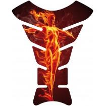 Sticker autocollant réservoir moto Flames