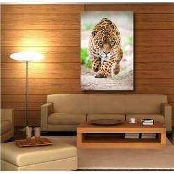 Tableaux toile déco rectangle guépard couleur