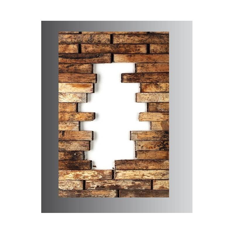 tableaux toile déco rectangle verticale mur en bois - art déco