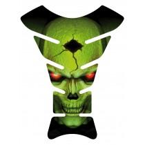 Sticker autocollant réservoir moto Skull Vert