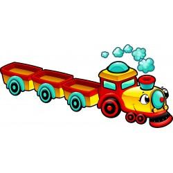 Stickers enfant Train à vapeur