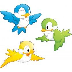 Sticker enfant Oiseaux 30x30cm