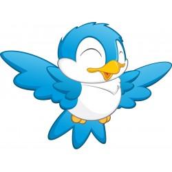 Stickers enfant Oiseau bleu