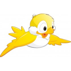 Stickers enfant Oiseau jaune