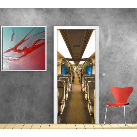 Stickers porte interieur train - Art Déco Stickers