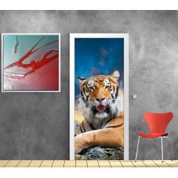 Stickers porte tigre réf 842