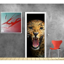 Stickers porte leopard