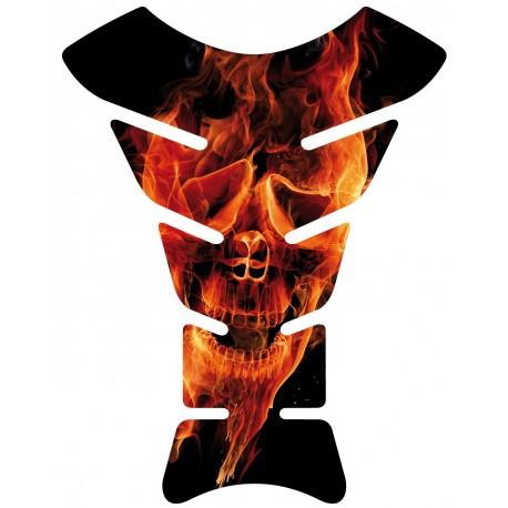 Sticker autocollant réservoir moto skull Flames