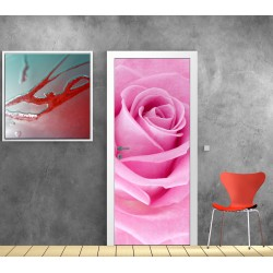 Stickers porte plane rose