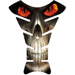 Sticker autocollant réservoir moto skull 042