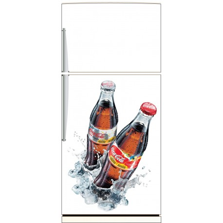 sticker frigo coca cola ou sticker magnet frigo art d co stickers. Black Bedroom Furniture Sets. Home Design Ideas