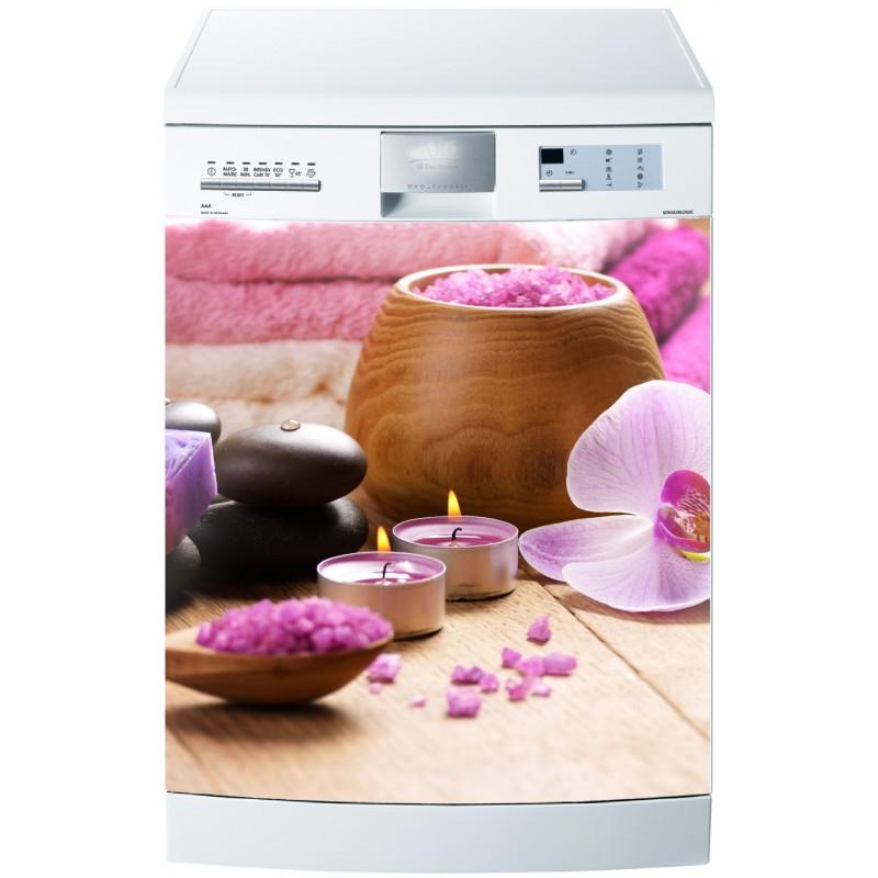 Sticker pour lave vaisselle bougies zen art d co stickers for Sticker pour lave vaisselle