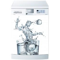 Sticker pour Lave Vaisselle Verre d'Eau