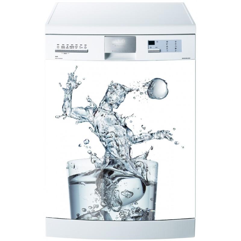 Sticker pour lave vaisselle verre d 39 eau art d co stickers for Stickers pour lave vaisselle