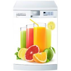 Sticker frigo cocktail de fruit ou sticker magnet frigo art d co stickers - Frigo qui fuit ...