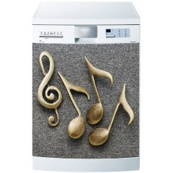 Sticker pour Lave Vaisselle Notes musique