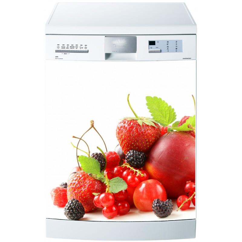Sticker pour lave vaisselle fruits rouges art d co stickers for Mon lave vaisselle fuit