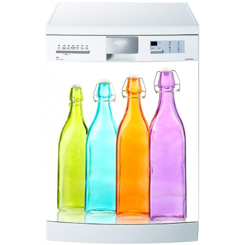 Sticker pour lave vaisselle bouteilles color es art d co for Stickers pour lave vaisselle