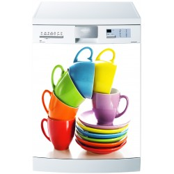 Sticker pour Lave Vaisselle tasses multicolores