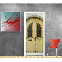 stickers porte plane effet bois art d co stickers. Black Bedroom Furniture Sets. Home Design Ideas