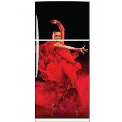 Sticker frigo déco cuisine Flamenco