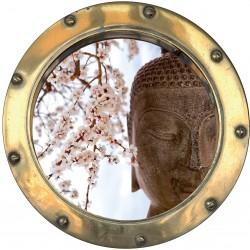 Sticker hublot trompe L'oeil Bouddha