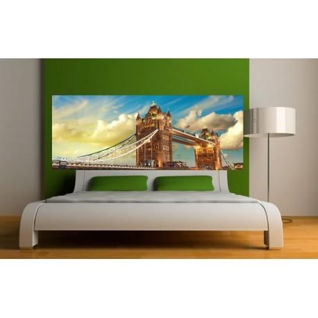 papier peint t te de lit london art d co stickers. Black Bedroom Furniture Sets. Home Design Ideas
